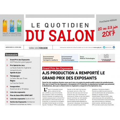 Le quotidien du salon ( EPHJ-EPMT-SMT 2016 )